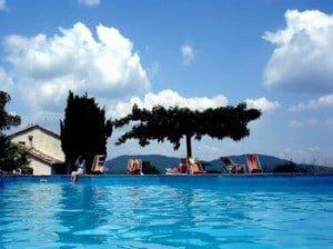 het zwembad van de Mas Blanc