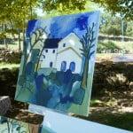 vrije impressie van de Mas Blanc tijdens de schilder cursus in 2015